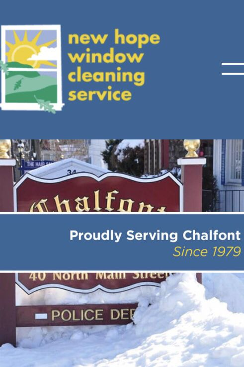 Based On New Hope Window Cleaning S Commitment To Top Quality Service The Company Has Assembled An Extensive Window Cleaner Chalfont Window Cleaning Services