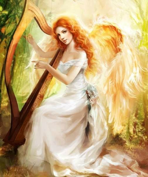 5D Diamond Painting Angel's Harp Kit Offered by Bonanza Marketplace. <a href=