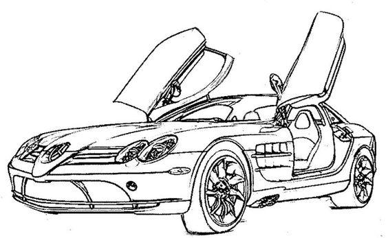 Mercedes McLaren Sport Coloring Page | Teacher Stuff ...