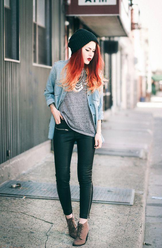 outfits con pantalón urbano