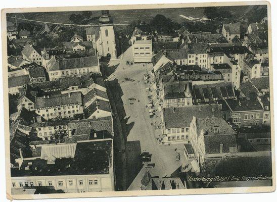 Insterburg, Luftbild, Orginal Fliegeraufnahme, Alter Markt, Lutherkirche