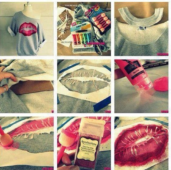 lips shirt, cuteee: