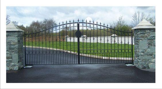 iron gates design | Gates limerick, wrought iron gates limerick, Broscon Engineering