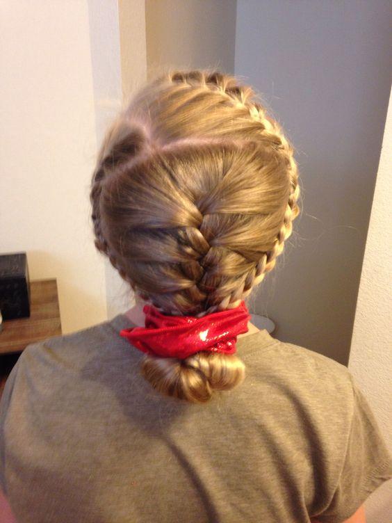 Perfect hair for a gymnast!!  Created by: Megan Borzych