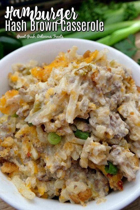 Hamburger Hash Brown Casserole Is A Delicious Ground Beef Casserole Made With Frozen Has Hashbrown Hamburger Casserole Frozen Hashbrown Recipes Brown Casserole