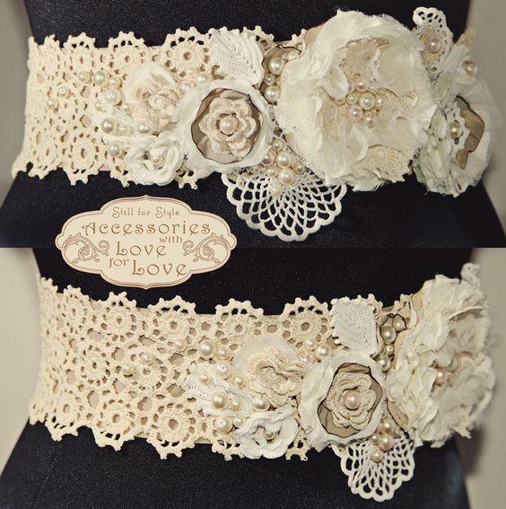 bridal belt in vintage style| brau pentru mirese in stil vintage cu broderie manuala