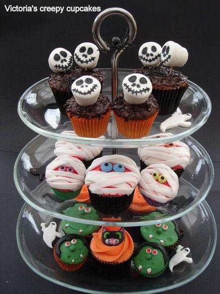 Halloween Cupcake Decoration Idea With Marshmallow
