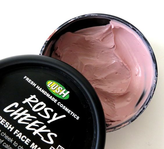 LUSH! Rosy Cheeks Fresh Face • This mask is everything. Seriously, it has kaolin to detox the skin, calamine and Turkish rose to calm it. It makes my skin feel super-balanced and fresh after I use it, which is always a good thing.