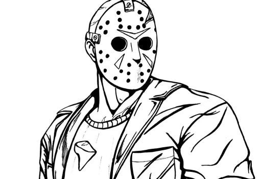Jason Friday The 13th Coloring Pages Coloring Pages Scary Coloring Pages Jason Voorhees Drawing