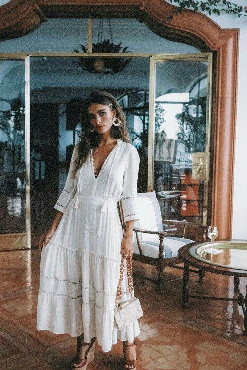 White Boho Dresses For Women