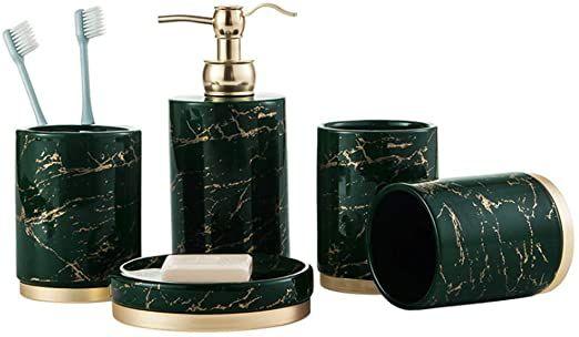 Marble Bathroom Accessories, Green Bathroom Sets