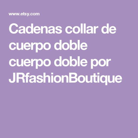 Cadenas collar de cuerpo doble cuerpo doble por JRfashionBoutique