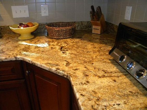 Nice Golden Crystal Granite Countertop Pictures | Crystal Gold Granite  Countertops Installed In Westborough, MA | The ... | Ideas For The House |  Pinterest ...