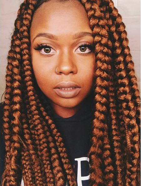 Bronze Box braids, great for any season!
