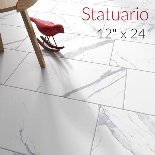 Studio M 12 X 24 Statuario Matte Finish Porcelain Tile