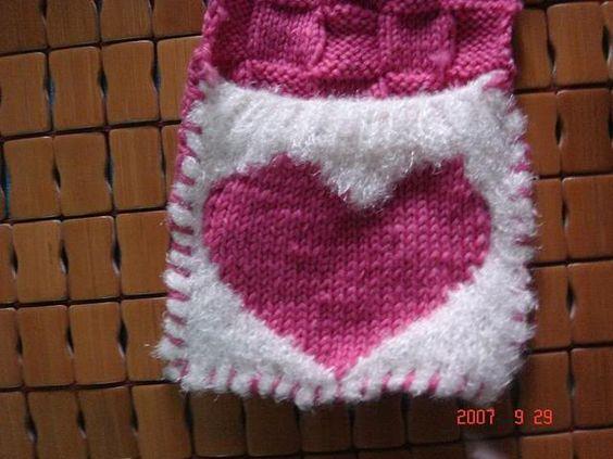 Heart scarf for Valentine, knitting pattern Velentines Day / St Patric...