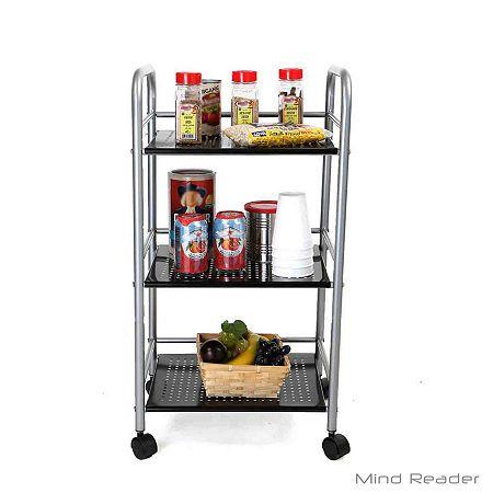 Mind Reader Metal Top Kitchen Cart In 2020 Kitchen Cart Kitchen Storage Cart Metal Kitchen