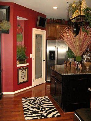 red walls zebra rugs and black cabinets on pinterest. Black Bedroom Furniture Sets. Home Design Ideas