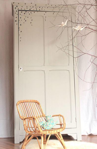 armoire parisienne vintage une porte chambre enfant Trendy Little