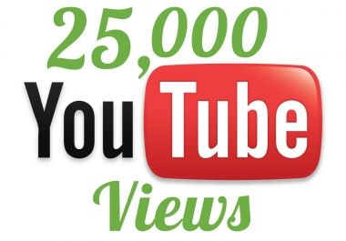 i will add 25,000+ YOUTUBE Views Guaranteed within... for $5