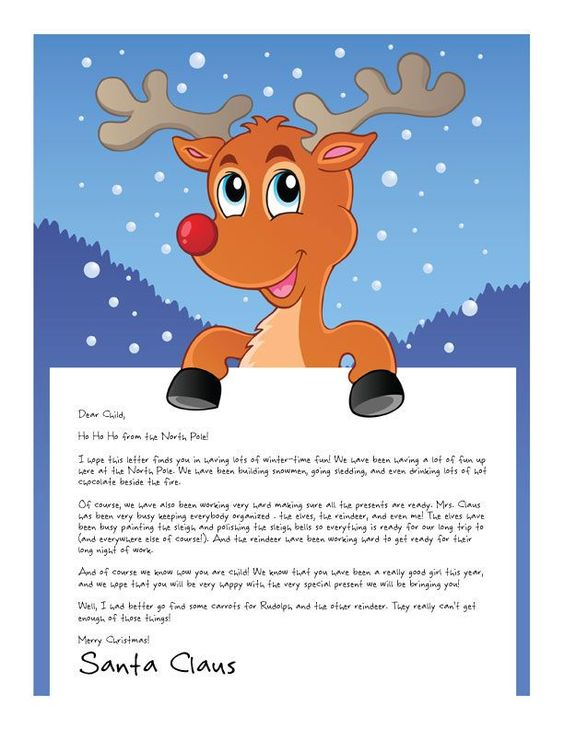 Easy Free Letter From Santa Magical Package  Messages Eyes And