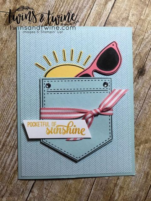 pocket full of sunshine, stampin up, pocket framelit dies