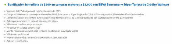 Walmart Bonificación con BBVA Bancomer