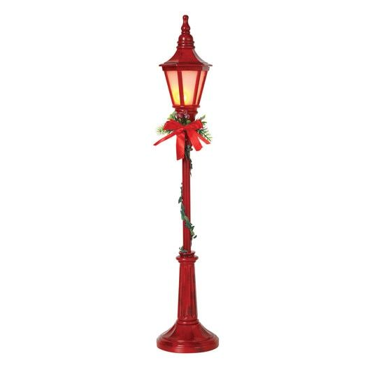 24 Battery Operated Lighted Red Holiday Street Lamp Christmas Figure 2498050 Christmas Lamp Post Indoor Christmas Decorations Decorating With Christmas Lights