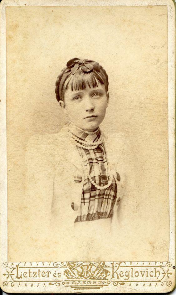 https://flic.kr/p/qfUkJf | Sad eyed young lady | CDV, from around 1888 to c. 1890 Photographer: Letzter & Keglovich Hungary Szeged, Kölcsey