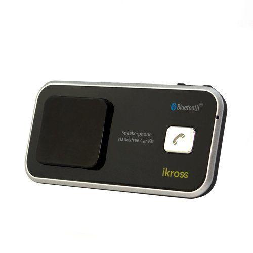 iKross Solar/USB Powered Wireless Bluetooth Speaker Phone Handsfree Car kit for iPhone, Blackberry, LG, HTC, Samsung, Pantech, Huawei, Motorola, ZTE, Tablet, Cell Phone, Smartphone, Prepaid phone, unlocked Phone, Mobile Phone
