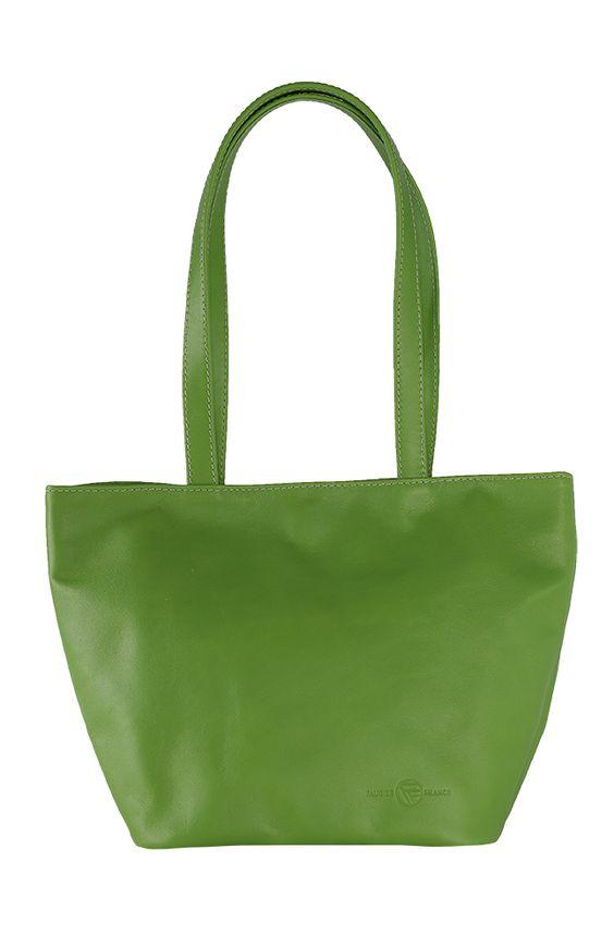 sac soleil cuir vert - fabrication française #cuir #madeinfrance #tournon #tournonsurrhône #maroquinerie #leather #Leatherwork #faugierfrance #florencefaugier #sac #sacàmains