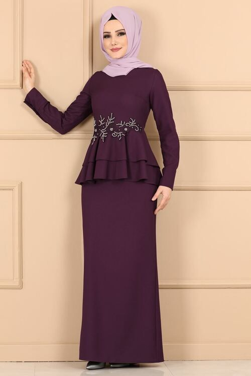 Modaselvim Elbise Gupur Ve Incili Kalem Elbise 5168ay342 Murdum Print Chiffon Maxi Dress Dresses Chiffon Maxi Dress