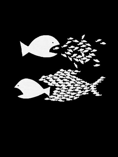 Organize / Protest / Activist Fish T-Shirt ( #Anarchism #Revolution )