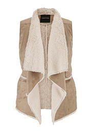plus size faux shearling vest - maurices.com