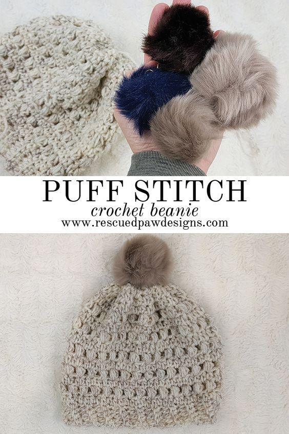 Excelente Crochet Patrón Puff Puntada Bandera - Ideas de Patrones de ...