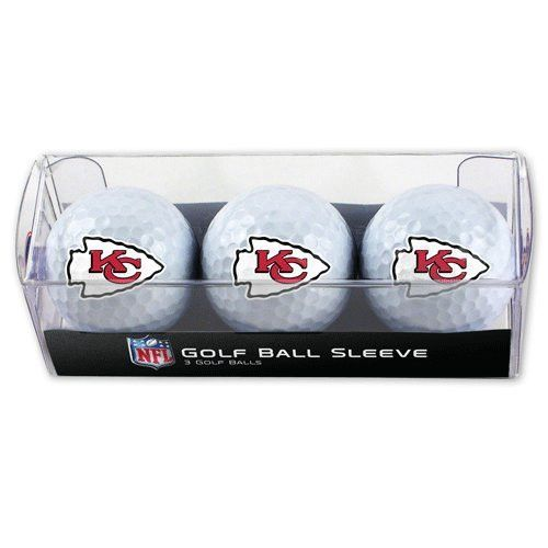 Kansas City Chiefs Golf Balls - 3 pc sleeve
