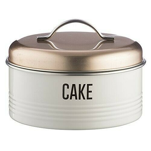 Vintage Cream Cake Cookies Tin Round Storage Container Metal Box Sweet Caddy Jar Cake Storage Vintage Copper Cake Tins