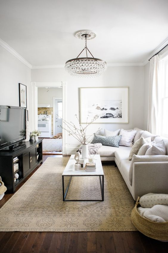 Crystorama Calypso 6-light chandelier in bronze Perfect example of many living rooms in houses in my area. Great flip example