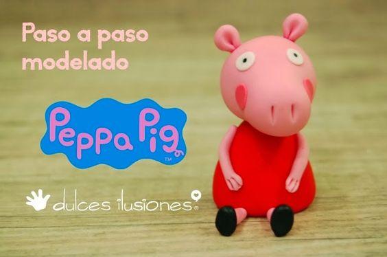 ARTE COM QUIANE - Paps,Moldes,E.V.A,Feltro,Costuras,Fofuchas 3D: como faz: peppa pig de biscuit