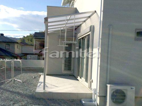 施工例 湖南市 新築シンプル オープン外構 玄関まわり 門柱