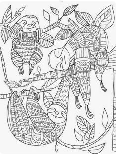 Top Ten Free Sloth Coloring Pages Hanging With Sloths Sloth Art Coloring Pages Coloring Books
