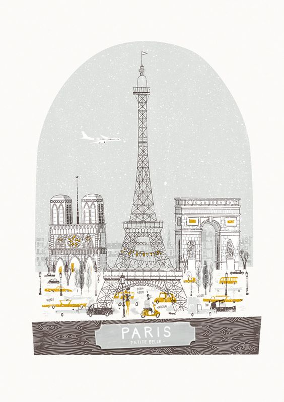 Beautiful illustration makes me wish I was in Paris now. Petit Belle by Johnny Kotze, via Behance