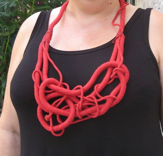 "with ""Strong"" necklace, by Yiota Vogli  France 2015:"
