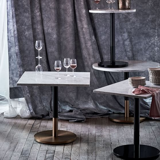 Weisser Marmor Runder Bistrotisch Klein In 2020 Dining Table
