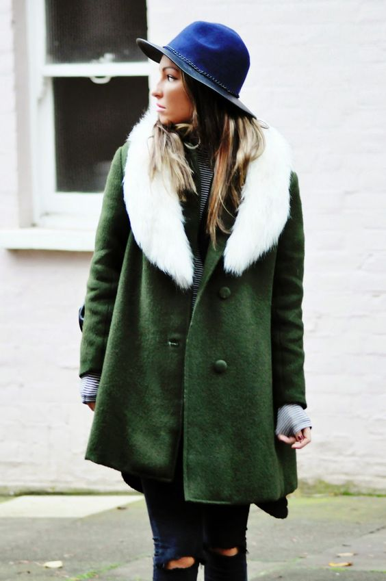 love this coat and hat combination