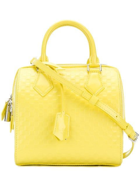 Louis Vuitton Vintage 2010 Speedy Cube Bag 5 531 Lime Yellow Patent Leather 2010 Speedy Cube Bag From Bags Louis Vuitton Handbags Vintage Louis Vuitton