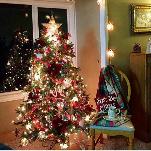 This #Christmas tree is colorful! Love the star! @floral_philosophy Use #frugalchicken and I'll feature your tree! #christmastree #GIFtATree #gorgeous