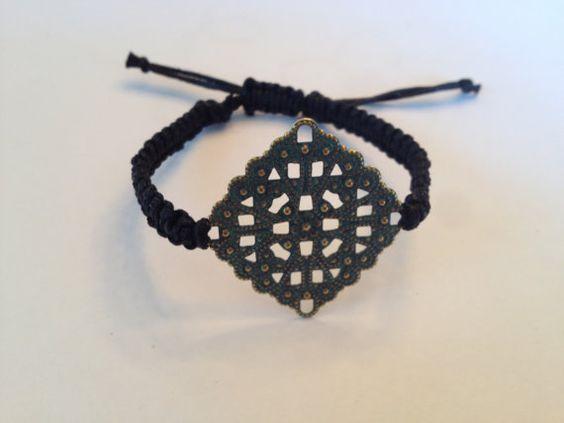 Macrame bracelet by AroundMyWrist on Etsy