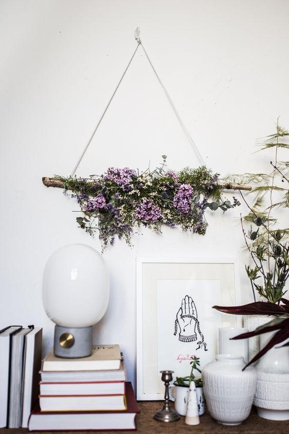 diy: flower wallhanging | selber machen und blume, Innenarchitektur ideen