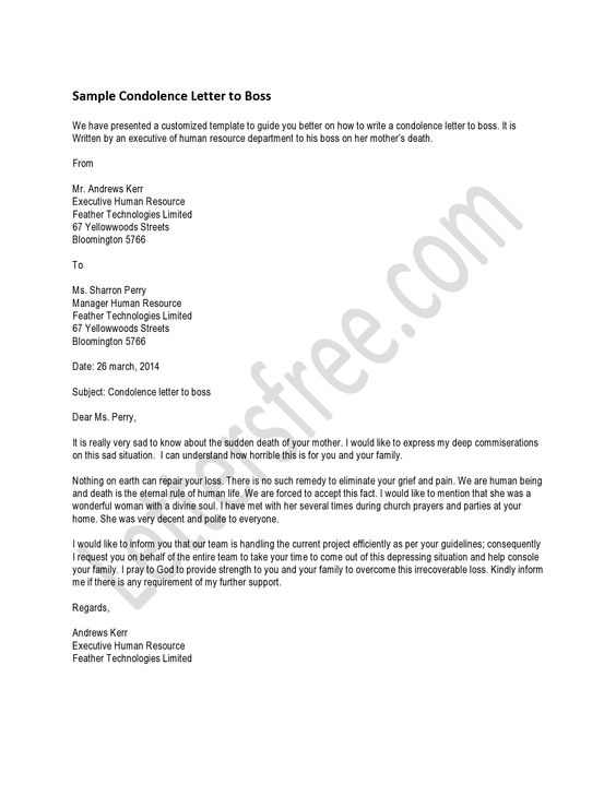 You can read the sample letter for a condolence letter that you - formal letter of condolence